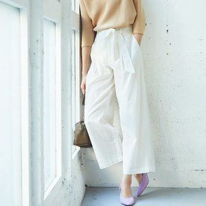 Uniqlo | Linen Wide Leg Trousers (XL)